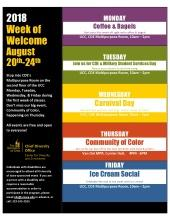 CDE Week of Welcome: Prize Wheel & Military/Veteran Student Services Day